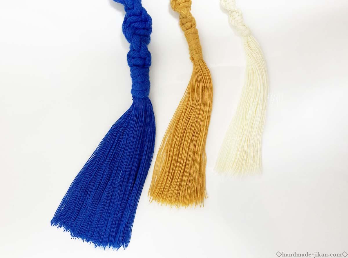 ボビニーの糸で作ったフリンジ
